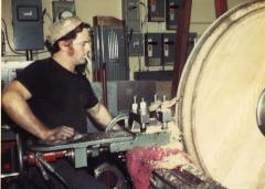 海外視察・カナダ[1976年]・森林の国の木型を挽いている職人