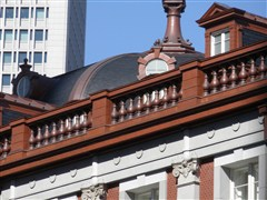 実績紹介・東京駅丸の内駅舎・大屋根の装飾部分